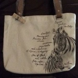 Cold water Creek Hand painted canvas bag